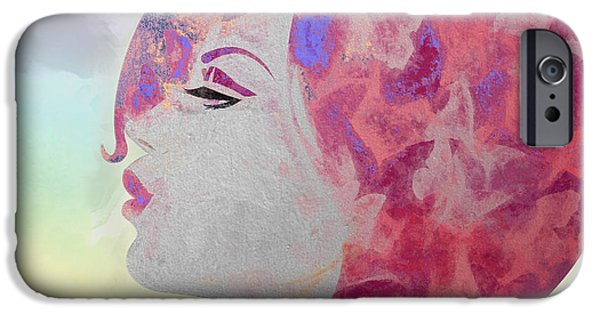 Lips iPhone Cases - Flying in the Rainbow iPhone Case by Andrea Ribeiro