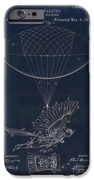 Aimelle Prints iPhone Cases - Flying machine - 0104a iPhone Case by Variance Collections