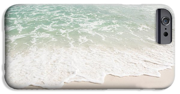Splashy iPhone Cases - Foam on the Beach iPhone Case by Shelby  Young