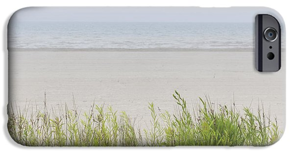 Beach Landscape iPhone Cases - Foggy beach iPhone Case by Elena Elisseeva