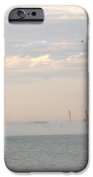 Foggy Lake Point iPhone Case by David Bearden