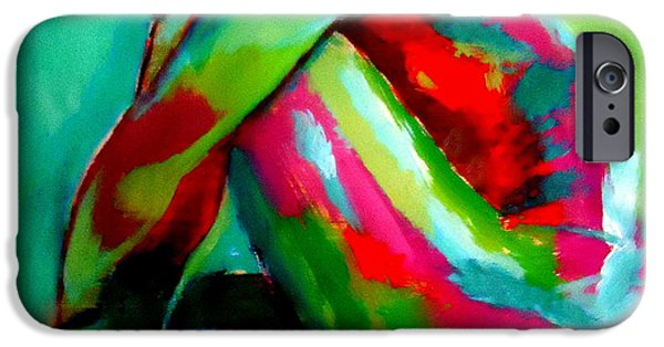 Abstract Expressionism iPhone Cases - Folded in thoughts iPhone Case by Helena Wierzbicki