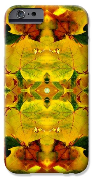 Mosaic Tapestries - Textiles iPhone Cases - Foliage iPhone Case by Elizabeth Cope May