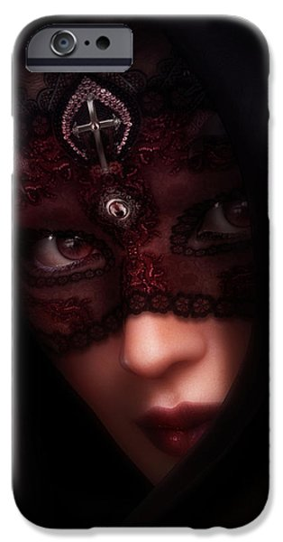 Beautiful Faces iPhone Cases - Follow Me Gothic Romance iPhone Case by Shanina Conway