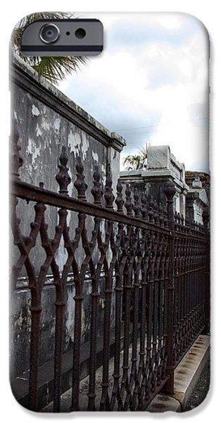Cemetary iPhone Cases - Follow The Fence iPhone Case by Robert Kinser
