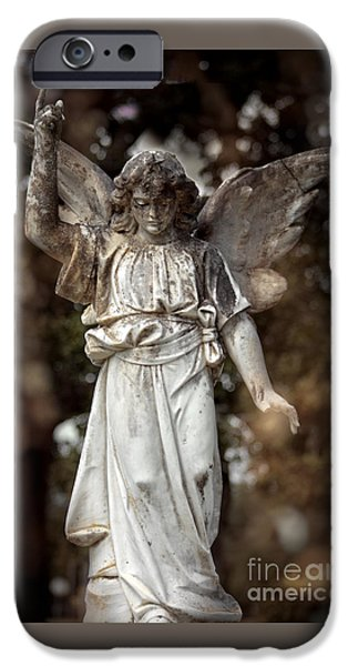 Religious iPhone Cases - Follow the Heavenly Messenger - Christian Angel Art iPhone Case by Ella Kaye Dickey