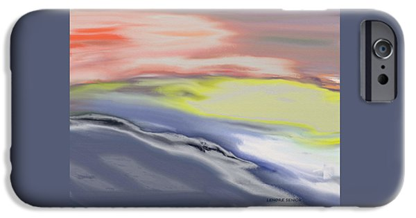 Abstract Digital Paintings iPhone Cases - Following the Horizon iPhone Case by Lenore Senior
