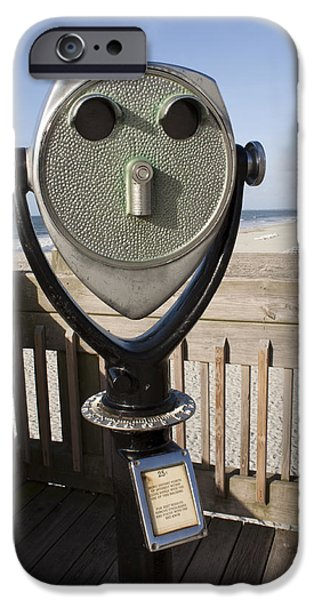 Operating iPhone Cases - Folly Beach Pay Binoculars iPhone Case by Dustin K Ryan