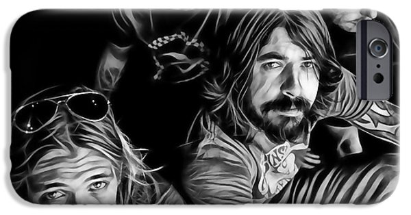Foo Fighters iPhone Cases - Foo Fighters Collection iPhone Case by Marvin Blaine