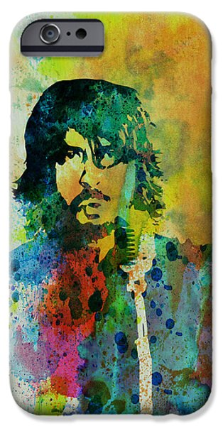 Portrait Paintings iPhone Cases - Foo Fighters iPhone Case by Naxart Studio