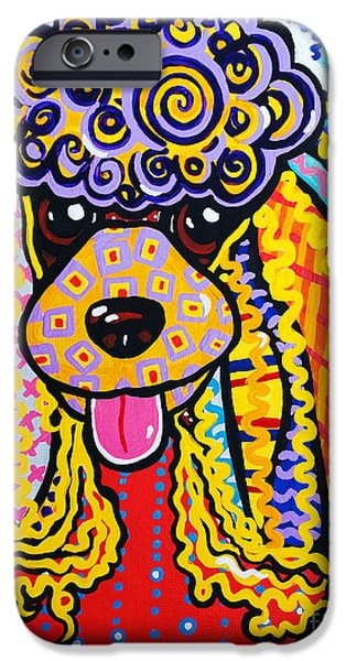 Black Dog iPhone Cases - Foo Foo iPhone Case by Jackie Carpenter