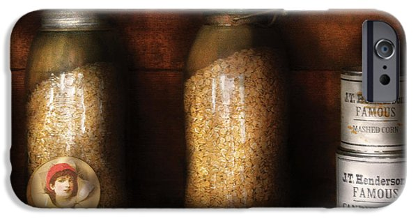 Oatmeal iPhone Cases - Food - Corn Yams and Oatmeal iPhone Case by Mike Savad