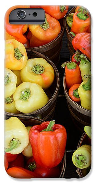 Food - Peppers iPhone Case by Paul Ward
