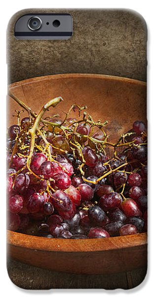 Food - Grapes - A bowl of grapes  iPhone Case by Mike Savad