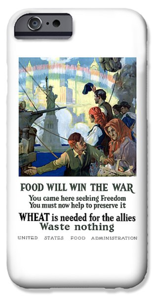 Food Stores iPhone Cases - Food Will Win The War iPhone Case by War Is Hell Store