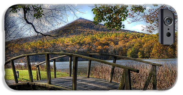 Blue Ridge Parkway iPhone Cases - Foot Bridge iPhone Case by Todd Hostetter