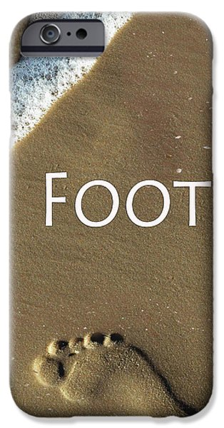 Abstract Forms iPhone Cases - Foot iPhone Case by Tina M Wenger