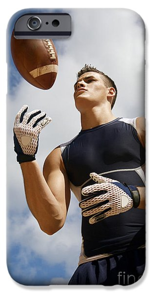 Football Athlete I iPhone Case by Kicka Witte - Printscapes