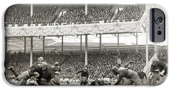 1916 Photographs iPhone Cases - Football Game, 1916 iPhone Case by Granger