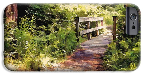 Pathway iPhone Cases - Bridge iPhone Case by Betsy Zimmerli