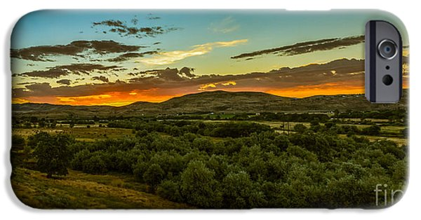 Emmett iPhone Cases - Foothills Sunrise iPhone Case by Robert Bales