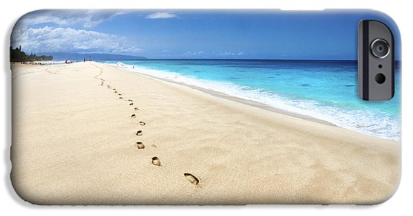 Sea iPhone Cases - Footsteps of Tranquility iPhone Case by Sean Davey