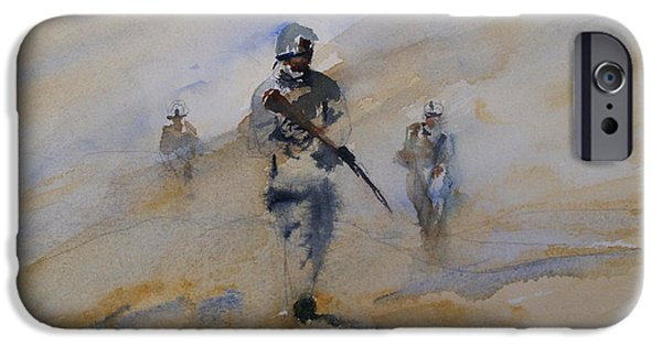 Iraq Paintings iPhone Cases - For John iPhone Case by Sandra Strohschein
