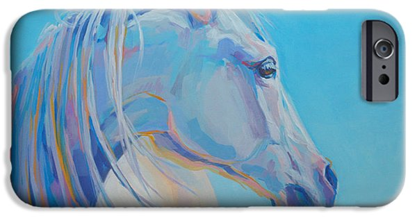 Portraiture Paintings iPhone Cases - For Melissa iPhone Case by Kimberly Santini