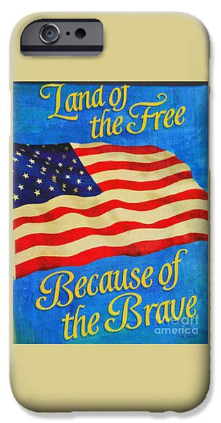 July 4th iPhone Cases - For The 4th iPhone Case by Marcus Dagan