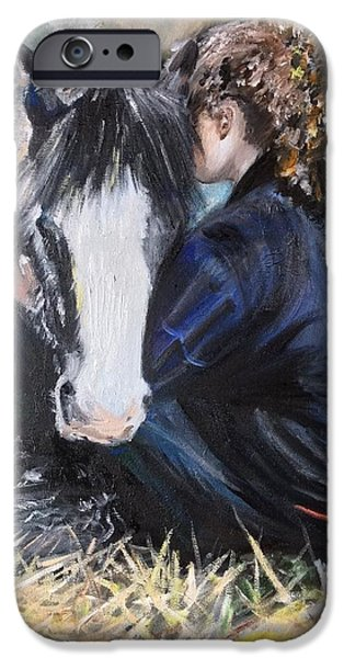Power iPhone Cases - For the Love of a Pony iPhone Case by Lady I F Abbie Shores