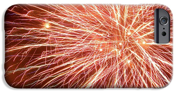 Fireworks iPhone Cases - Force Field iPhone Case by Lorraine Baum