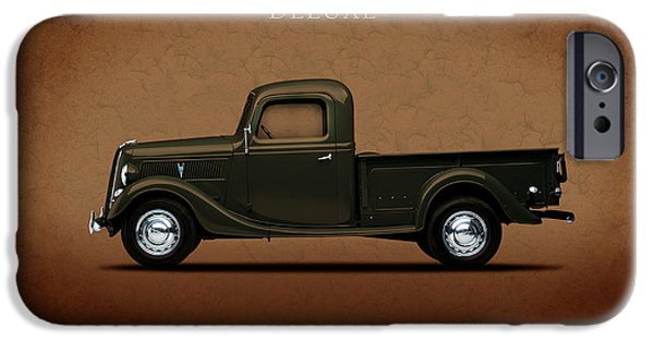 Truck iPhone Cases - Ford Deluxe Pickup 1937 iPhone Case by Mark Rogan