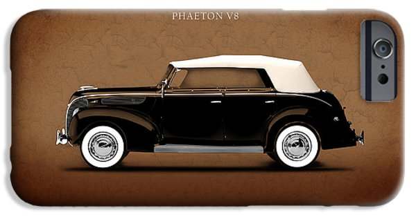 V8 iPhone Cases - Ford Deluxe V8 1938 iPhone Case by Mark Rogan