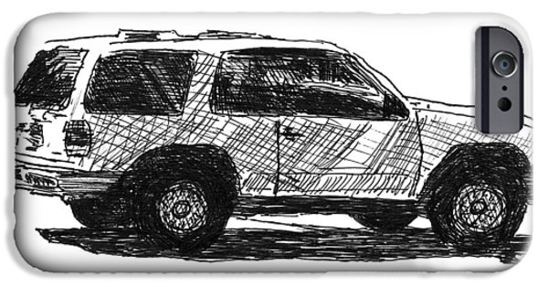 Pen And Ink Photographs iPhone Cases - Ford Explorer iPhone Case by Eric Tressler