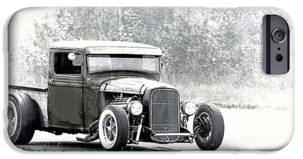 Racing iPhone Cases - Ford Hot Rod iPhone Case by Athena Mckinzie