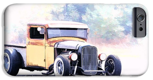 Racing iPhone Cases - Ford Hot Rod III iPhone Case by Athena Mckinzie