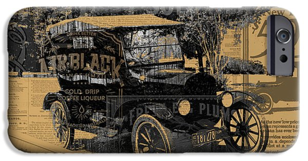 Ford Model T Car iPhone Cases - Ford Model T Made Using Found Objects iPhone Case by Design Turnpike