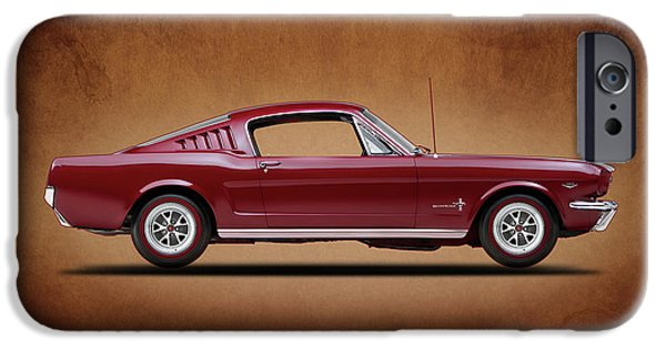 Ford Mustang iPhone Cases - Ford Mustang Fastback 1965 iPhone Case by Mark Rogan