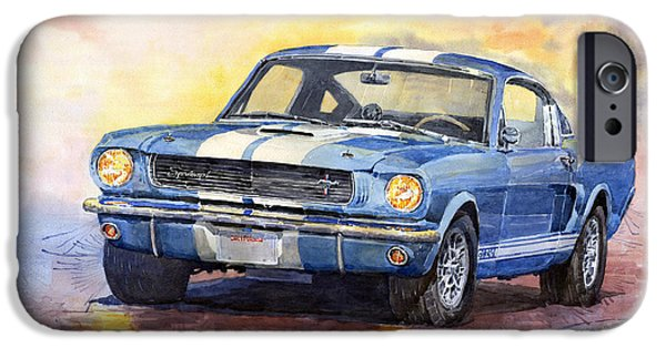 iPhone Cases - Ford Mustang GT 350 1966 iPhone Case by Yuriy Shevchuk