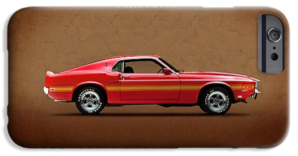 Ford Mustang iPhone Cases - Ford Mustang Shelby GT350 1969 iPhone Case by Mark Rogan