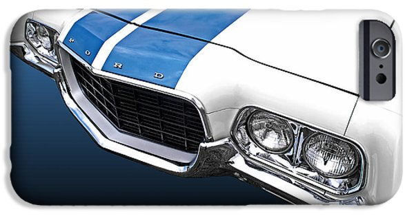 Stripes iPhone Cases - Ford Ranchero 500 iPhone Case by Gill Billington