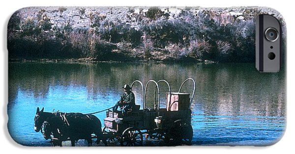 Doggie Art iPhone Cases - Ford The River iPhone Case by Jerry McElroy