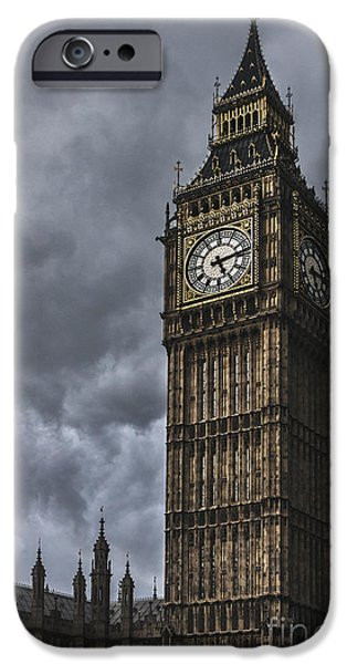 Big Ben iPhone Cases - Foreboding iPhone Case by Andrew Paranavitana