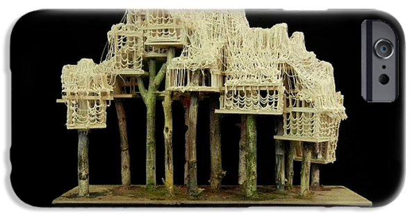House Sculptures iPhone Cases - Forest #1 iPhone Case by Caleb Rogers
