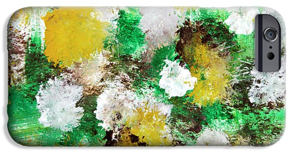 Contemporary Abstract iPhone Cases - Forest Abstract Painting iPhone Case by Christina Rollo