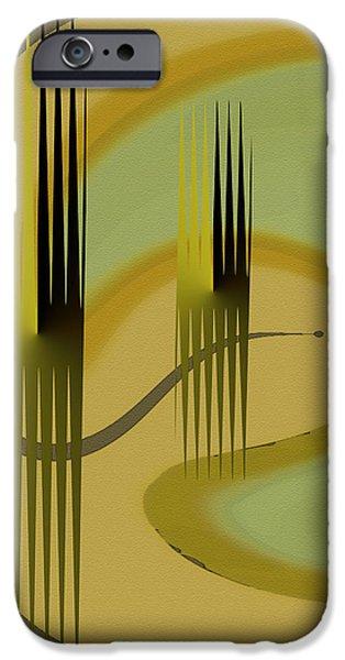Ben Gertsberg Digital Art iPhone Cases - Forest iPhone Case by Ben and Raisa Gertsberg