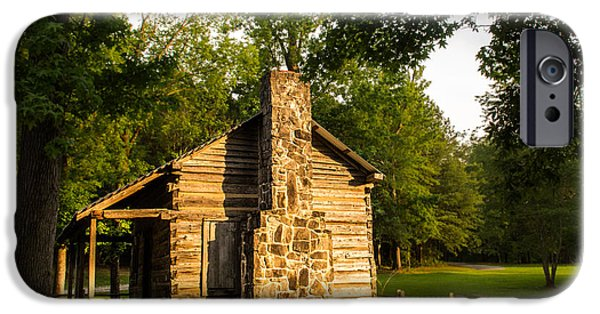 Old Barn iPhone Cases - Forest Cabin iPhone Case by Parker Cunningham