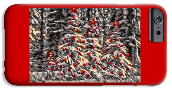 Christmas Greeting iPhone Cases - Forest Christmas iPhone Case by Kathy Bassett