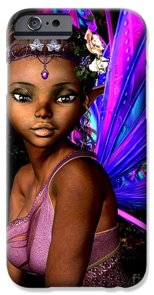 Fay iPhone Cases - Forest Fairy iPhone Case by Alexander Butler