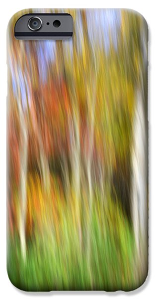 Nature Abstract iPhone Cases - Forest Light Painting iPhone Case by Christina Rollo